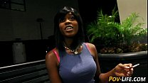 Teen ebony gets facial