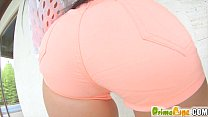 Primecups Kyra Hotrides a huge flesh dildo