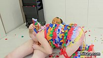 Kinky cutie was brought in anal hole assylum for uninhibited therapy