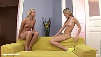 Torrid Oralists featuring blondes Beatrice and Candie finger each other by Sapph