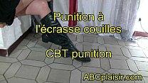 Punition à l'écrase couilles CBT