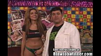 Skinny Latina Isis Taylor Blowing Lucky Winner Billy