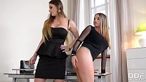Naughty Rachele Richey gets Ass Fucked by Dominatrix Cathy Heaven