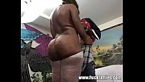 Ebony BBW Escort Girl Gives Her Client A Rub And Thug