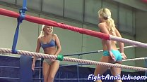 Fighting babes having passionate lesbiansex