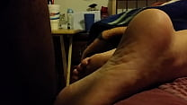 cum on my gf sleeping feet