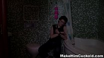 Make Him Cuckold - Cuckolded in a bathroom