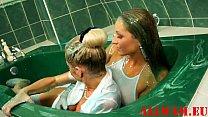 slimy blue soap bath