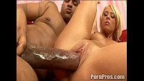 Teen Slut Britney passes out at the site of OG's king kong dick