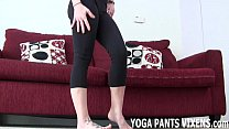 These pussy hugging yoga pants are making me we...