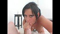hot latina Dasani Lezian engulfs her trainors h...