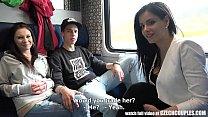 train public in sex Foursome