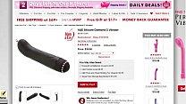 G-Spot & Clitoral Vibrator Adam and Eve's Silicone Diamond G Vibrator