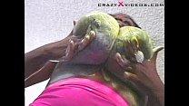 Big Black Boobs Whip Cream