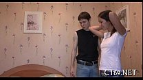 Teen hottie pleases her stud
