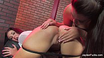 Black Leather Chair Lesbians With Jayden Jaymes