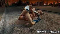 3D Power Girl gets eaten out and fucked hard andpowerfem-high 1