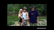 Gabriella Bond has an anal threesome in the desert