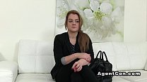 brunette with fuck recording agent Fake