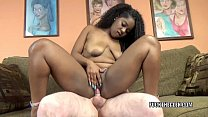 Ebony coed Layla Finesse is getting banged by an old dude
