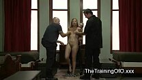 Tied up suspended blonde tortured and fisted an...