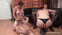 FFFM French babes hard analized and fist fucked by a lucky guy