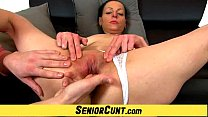 Sexy lady Renate old pussy fingering and speculum pussy spreading