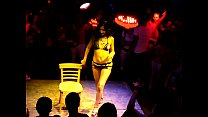 show strip chair Brunette