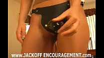 Heather Vandeven joi and cei with strapon femdom