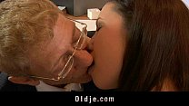 Old boss fucking his young secretary