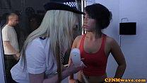 Femdom female police agents humiliate