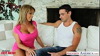Hot milf Amber Lynn Bach with big tits and ass sucking and fucking big cock