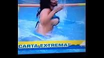 Claudia Ramirez muestra las Tetas en Programa VEX