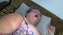 dildo use masturbating woman younger chubby her teaches mom chubby Old