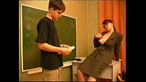 Russian teacher and boy