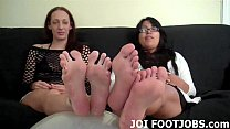If you beg we might let you worship our feet