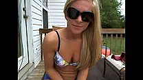 webcam a on outdoors teasing blonde Sexy