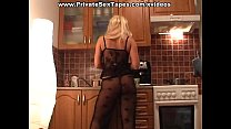 Real homemade porn from blonde worshipping big hard piston