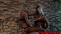 Eurobabes drilling pussies with strapon