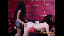Two insatiable hookers have their tight and round butts spanked