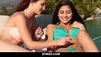 Dyked - Cute Teen Seduces Her Busty Neighbor