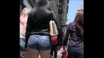 Candid Latina Tight Shorts Girl bubble butt