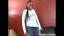 Very cute ebony chick banging