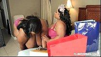 2 Busty Black BBW Lesbians Cotton Candi and Shanice Richards