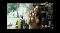 public in photoshoot topless Model