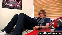 Hot twink Brent Daley is a lovely platinum-blonde emo dude one of our