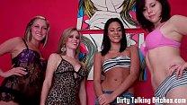 Four girls watching you jerk your cock