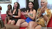 Horny women suck male stripper cock