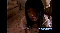 Young Asian Sex Slave Masturbates in Fron of Ma...