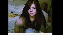Amateur redhead teeen on webcam -AVI
